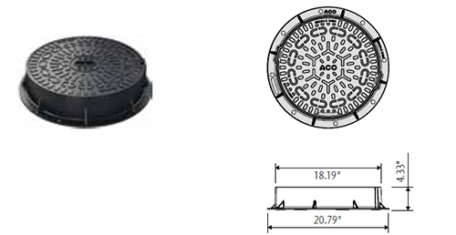 stormbrixx sd access chamber ductile iron cover